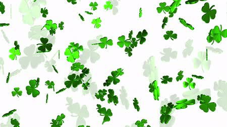 jetel : Abstract clover leaves on a white