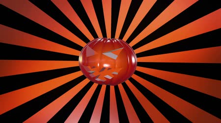 október : Abstract pumpkin head over sunburst in orange