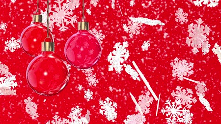 feliz ano novo : Christmas decorations on a red background