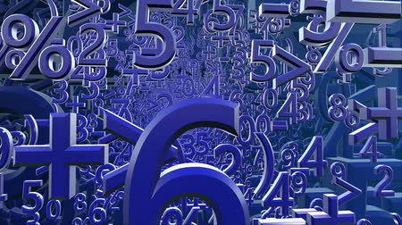 dígitos : Abstract variables numbers and symbols in dark blue color Vídeos