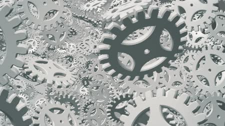 motion elements : Abstract white rotating gears