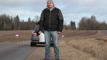 problem : Man with empty can try to stop car