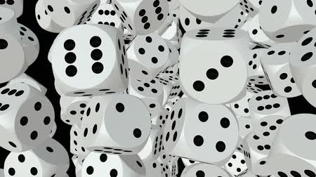 dobókocka : Abstract white dice Stock mozgókép