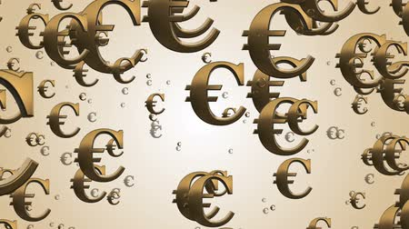 fiscal : Flying Euro money signs Stock Footage