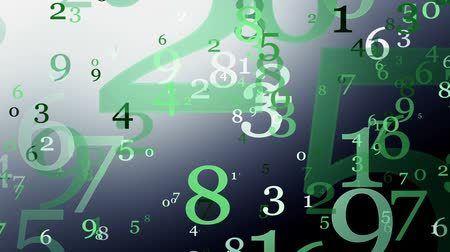 dígitos : Numbers in green on dark
