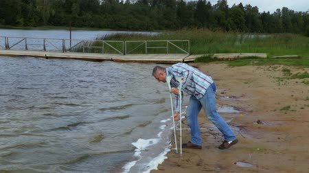 kule : Disabled in windy day at the lake