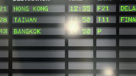 final destination : Departure board at airport