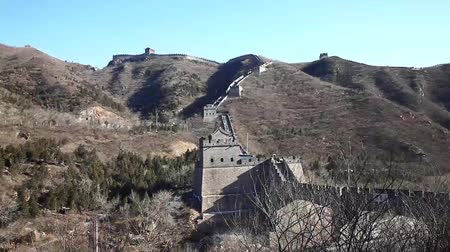 great wall of china : Shot of the Great Wall of China Stock Footage