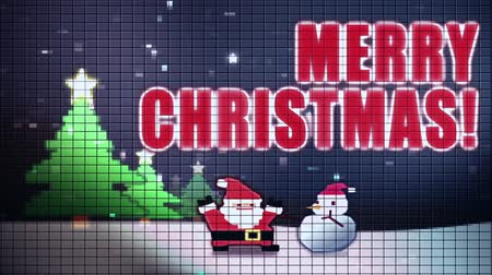 kardan adam : Digital Christmas greeting Stok Video
