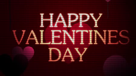 valentin nap : Valentines Day greeting on a digital screen