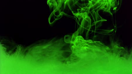 fumo : Abstract green smoke against black background Vídeos