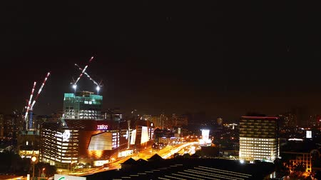 infrastrutture : Close-up shot di Petaling Jaya nightview