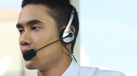 desteklemek : Call-center representative Stok Video