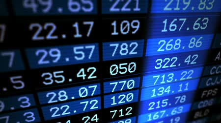 Доски : Stock market information board Стоковые видеозаписи