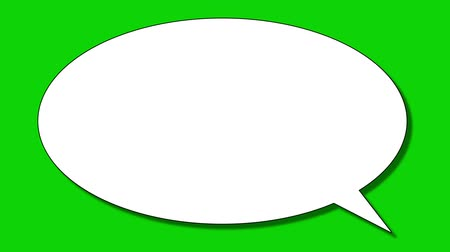 pensamento : Blank speech bubble popping up