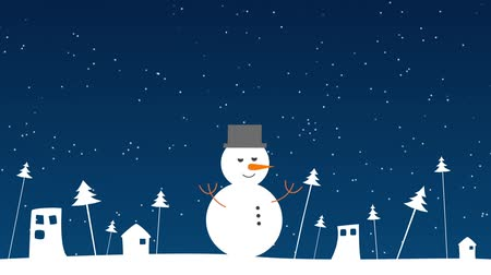 feliz natal : Snowman wishing Merry Christmas