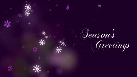 текст : Seasons Greetings message Стоковые видеозаписи