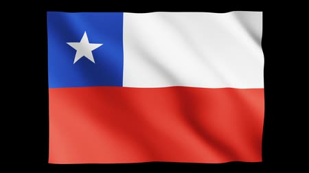 chileno : Bandera de animación Chile Archivo de Video