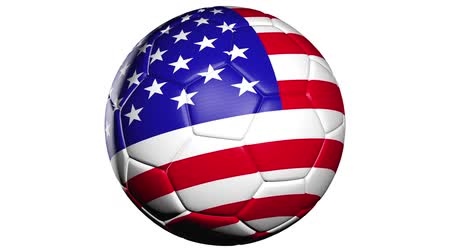 piłka nożna : United States flag on a soccer ball