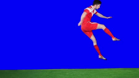 trest : Soccer player scoring a goal in slow motion Dostupné videozáznamy