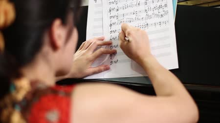 notes : Musician is composing music