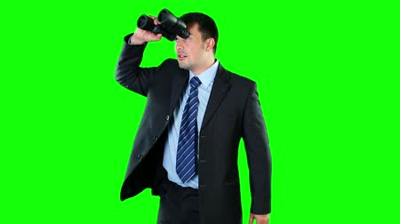 pont : Businessman looking through binoculars