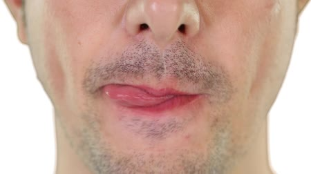 boca : Close up on a mid adult man mouth