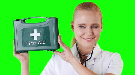 first aid kit : Doctor is holding first aid kit
