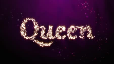 королева : Diamonds forming into a Queen word