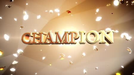 sampiyonlar : Champion text with diamonds Stok Video
