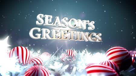 temporadas : Snowflake  and baubles with message season greeting