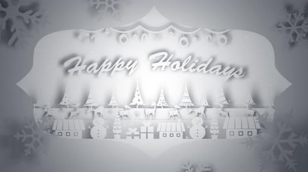 seasonal : Paper craft pop up with Happy Holidays message