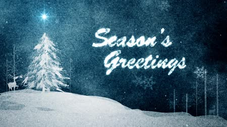 ünnepies : Watercolor texture with Season Greetings message Stock mozgókép