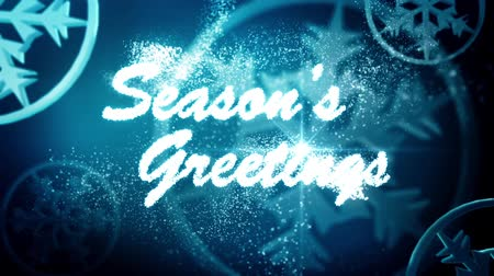 ünnepies : Season Greetings message Stock mozgókép