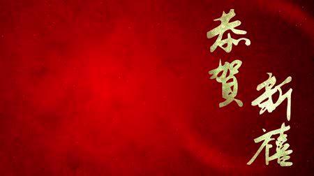 ano novo chinês : CNY greeting Congratulations on new blessings slide Vídeos