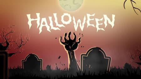 haloween : Spooky halloween theme at the cemetery