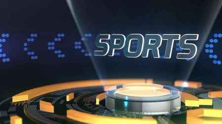 вещание : Digital broadcasting transition for sports Стоковые видеозаписи