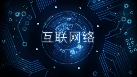 electric : Network in Chinese characters, transition to black