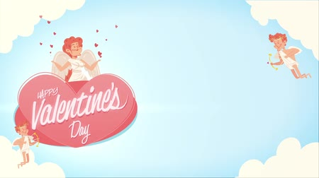 cupido : Happy Valentines Day looping background