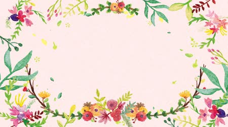 akvarell : Floral watercolor background