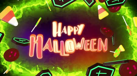 brujas : Apertura Happy Halloween Archivo de Video