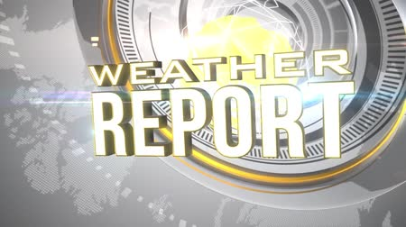 сообщить : Weather Report News Intro with 3D animation Стоковые видеозаписи