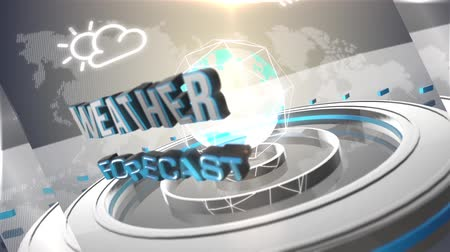 pogoda : Weather Forecast Opening Intro with 3D animation Wideo