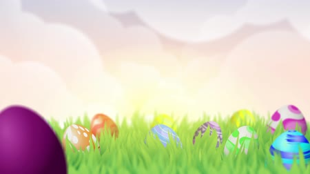easter : Happy Easter Background with 2D animation