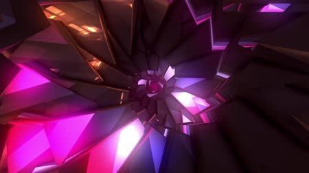 emanações : Looping abstract crystal staircase background