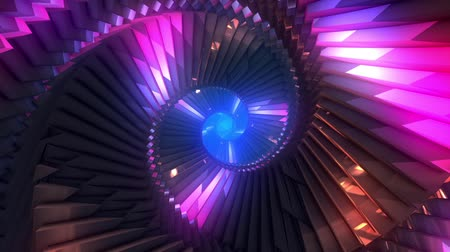 emanações : Looping rotating crystal staircase tunnel background