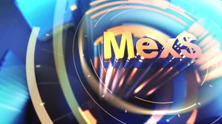 meksika : 3D abstract for Mexican Peso currency symbol