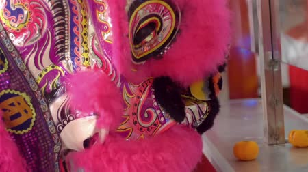 lew : Lion dance performance at local temple