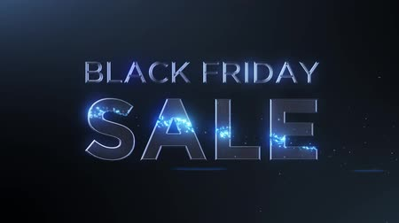 péntek : Black Friday Sale with graphic motion effects Stock mozgókép