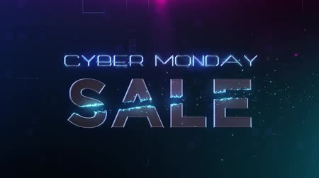 segunda feira : Cyber Monday Sale with graphic motion effects